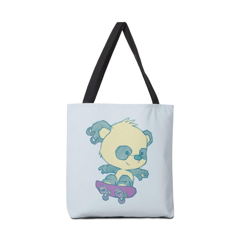 PandaSk8 Accessories Bag by redmunky's Artist Shop