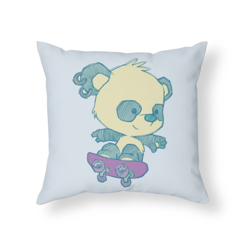 PandaSk8 Home Throw Pillow by redmunky's Artist Shop