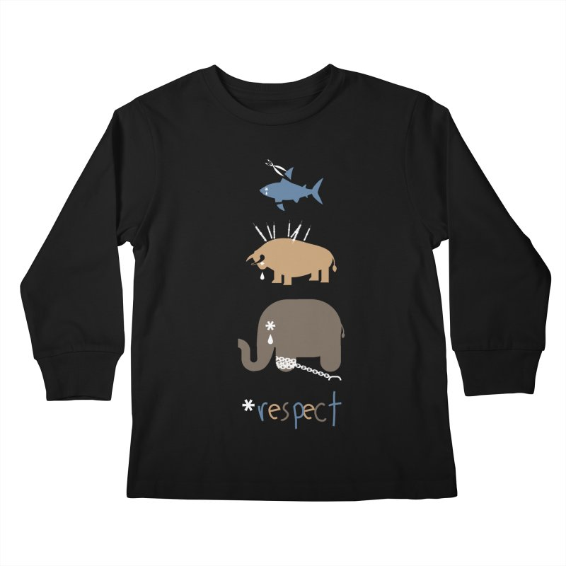 Respect Kids Longsleeve T-Shirt by redmunky's Artist Shop