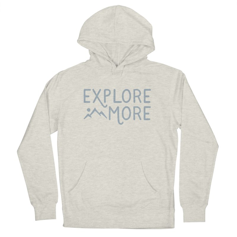 Explore More Men's French Terry Pullover Hoody by Red Pixel Studios