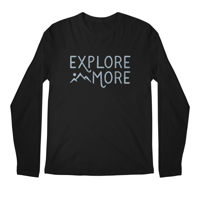Explore More Men's Regular Longsleeve T-Shirt by Red Pixel Studios