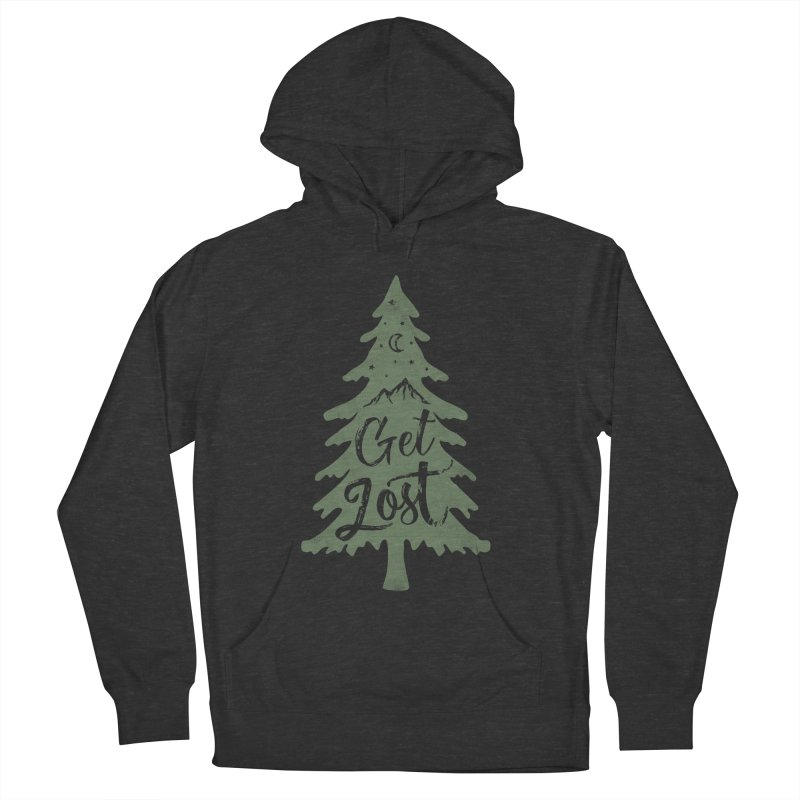 Get Lost Women's French Terry Pullover Hoody by Red Pixel Studios