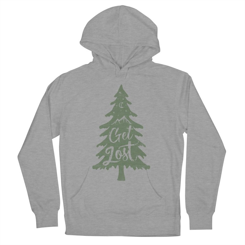 Get Lost Men's French Terry Pullover Hoody by Red Pixel Studios