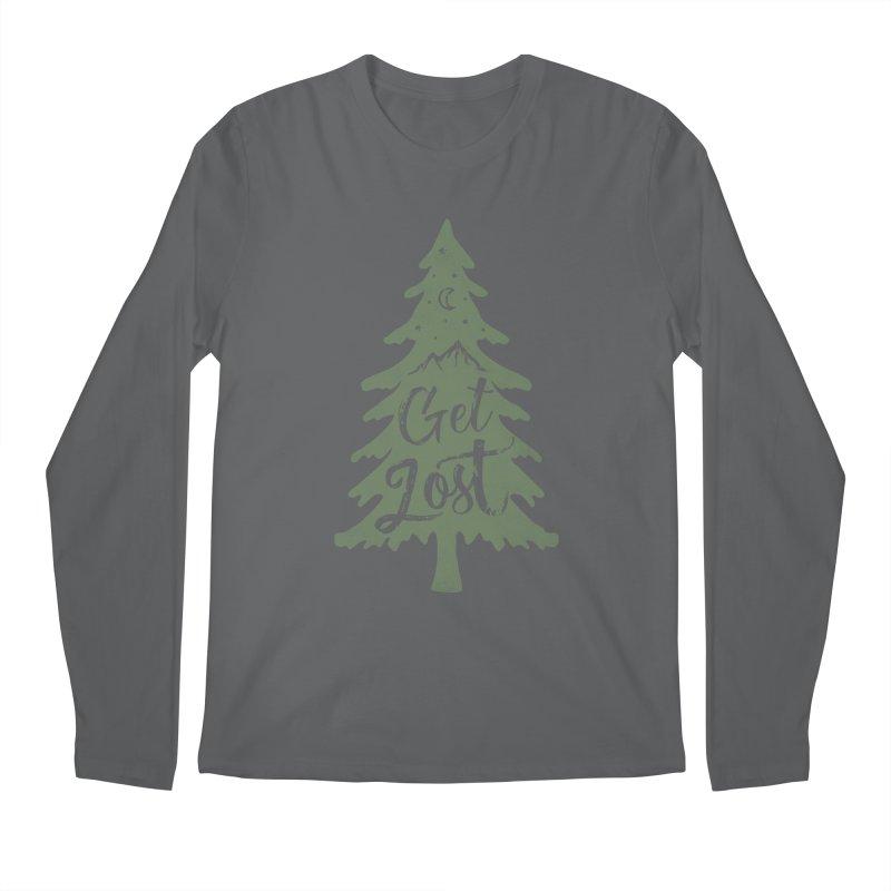 Get Lost Men's Longsleeve T-Shirt by Red Pixel Studios