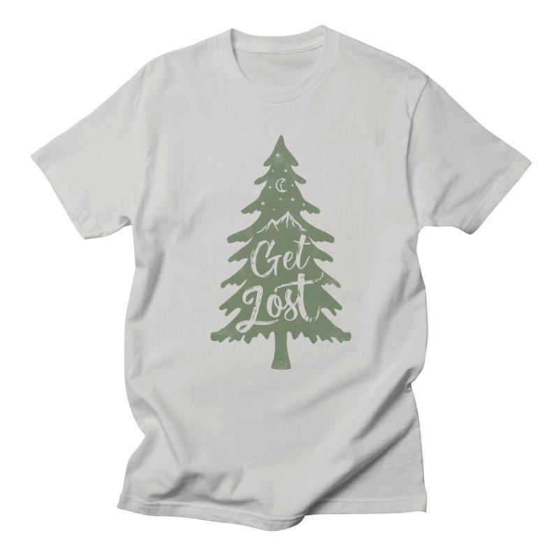 Get Lost Men's Regular T-Shirt by Red Pixel Studios