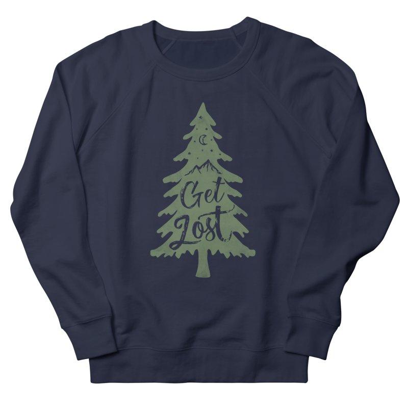 Get Lost Men's French Terry Sweatshirt by Red Pixel Studios