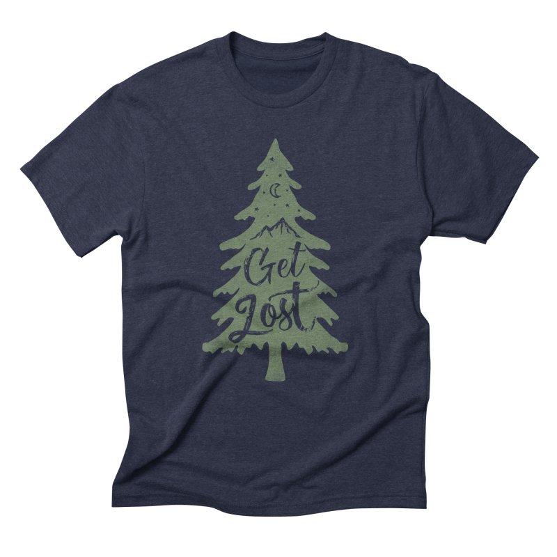 Get Lost Men's Triblend T-Shirt by Red Pixel Studios