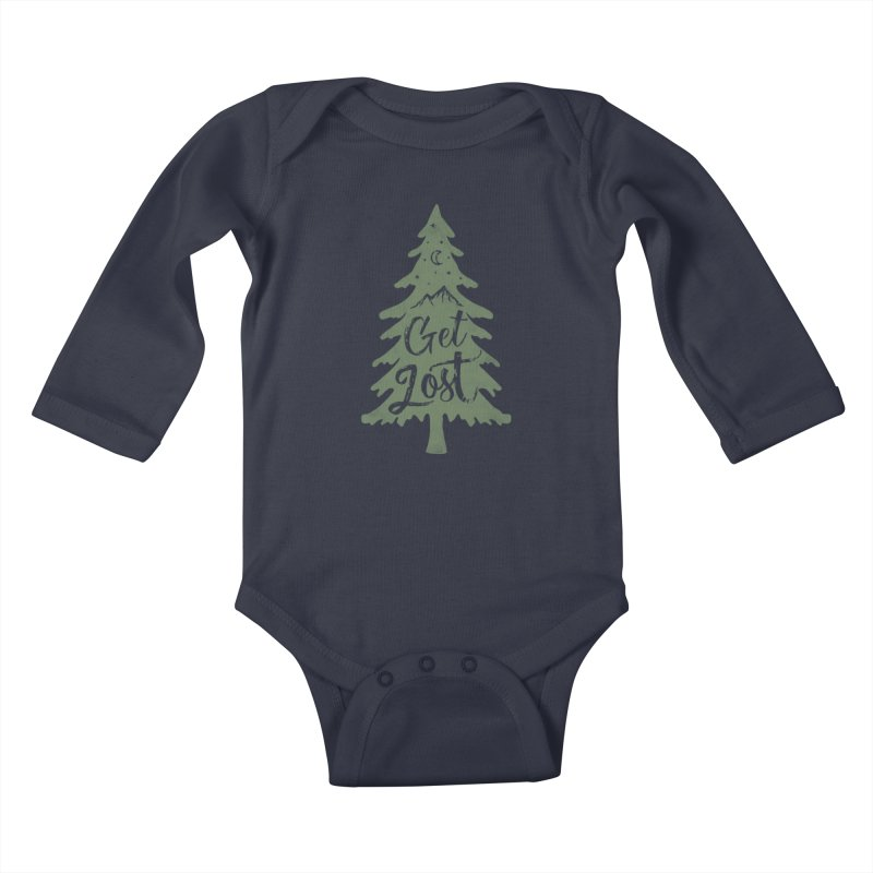 Get Lost Kids Baby Longsleeve Bodysuit by Red Pixel Studios