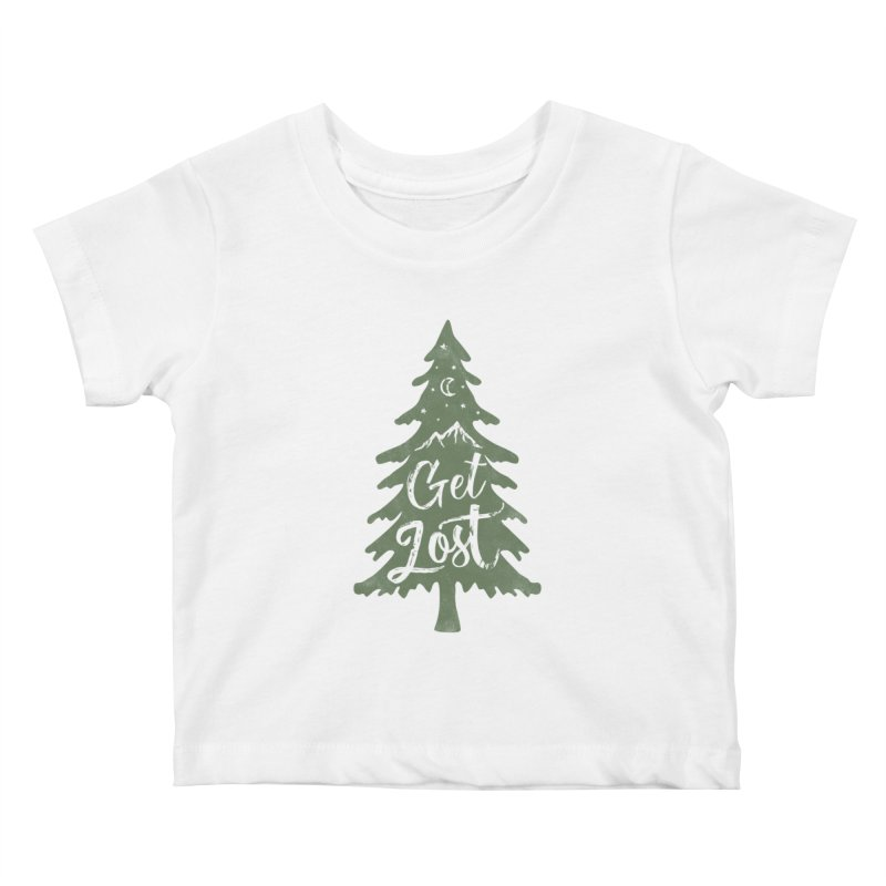Get Lost Kids Baby T-Shirt by Red Pixel Studios