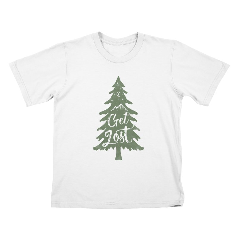 Get Lost Kids T-Shirt by Red Pixel Studios