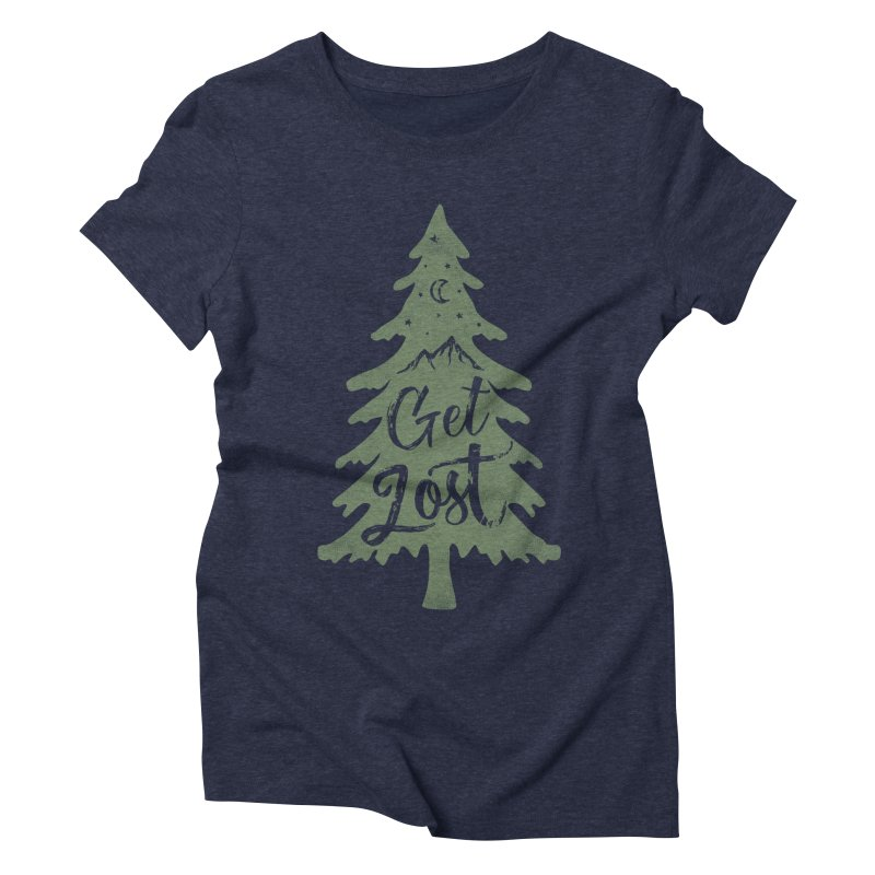 Get Lost Women's Triblend T-Shirt by Red Pixel Studios