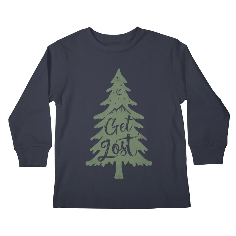 Get Lost Kids Longsleeve T-Shirt by Red Pixel Studios