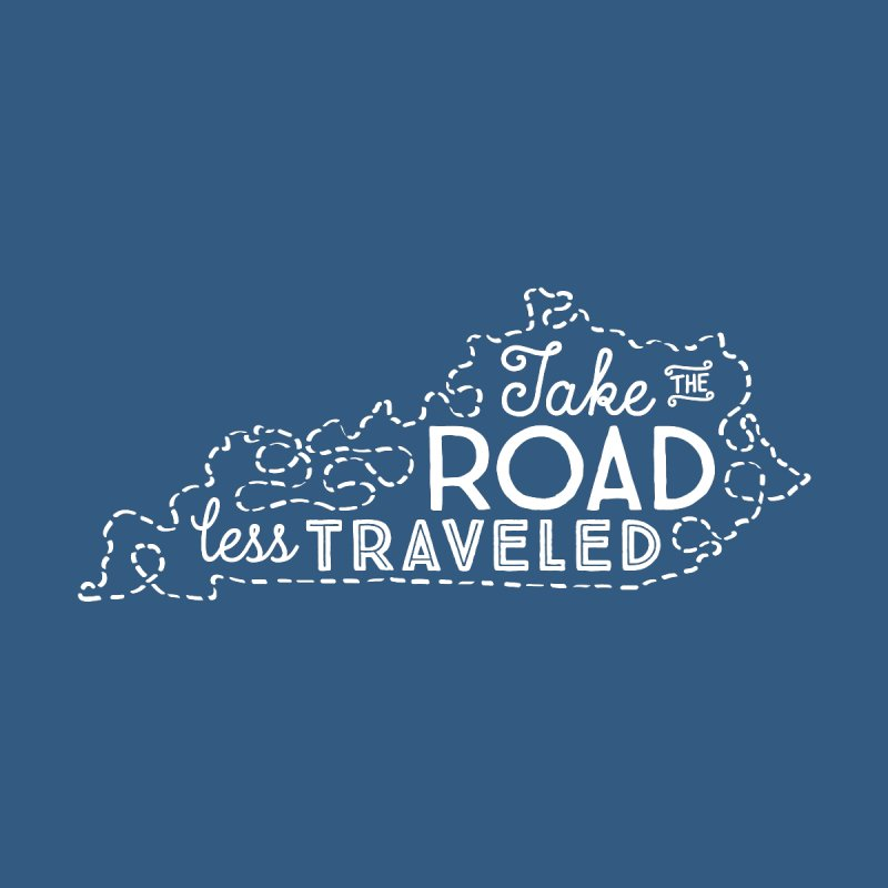 Kentucky Road Less Traveled Kids T-Shirt by Red Pixel Studios