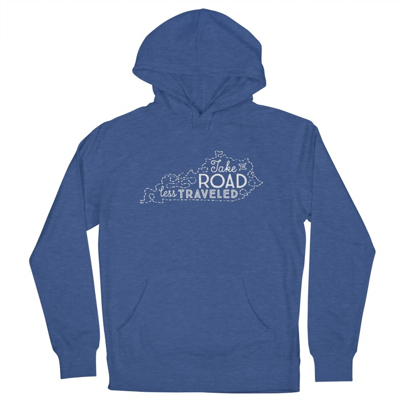 Kentucky Road Less Traveled Women's French Terry Pullover Hoody by Red Pixel Studios