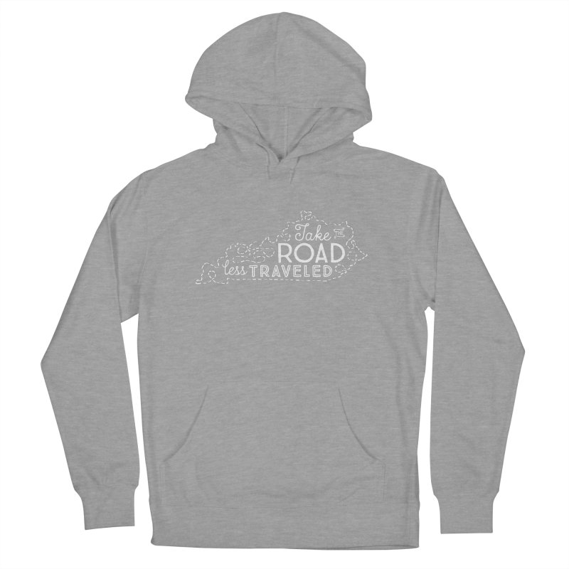 Kentucky Road Less Traveled Men's French Terry Pullover Hoody by Red Pixel Studios