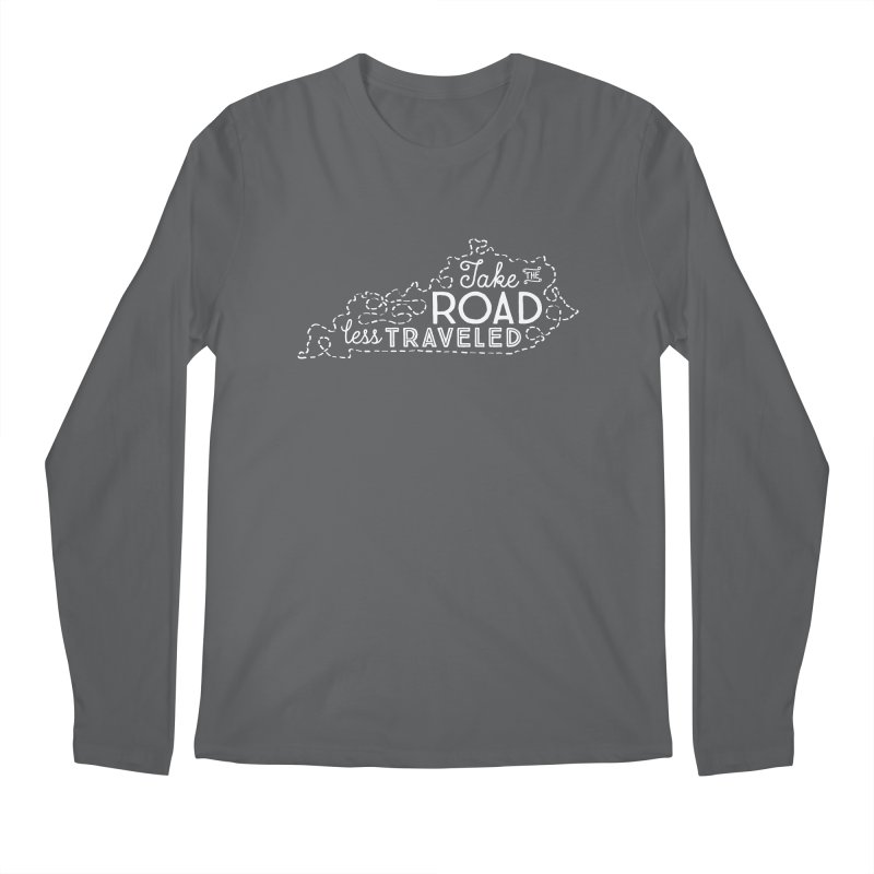 Kentucky Road Less Traveled Men's Longsleeve T-Shirt by Red Pixel Studios