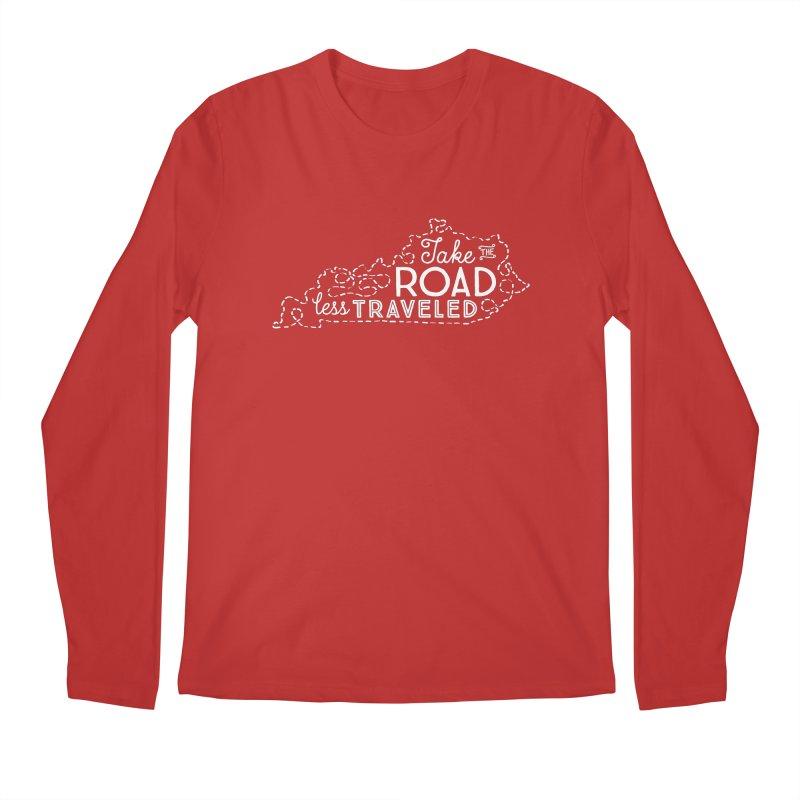 Kentucky Road Less Traveled Men's Regular Longsleeve T-Shirt by Red Pixel Studios