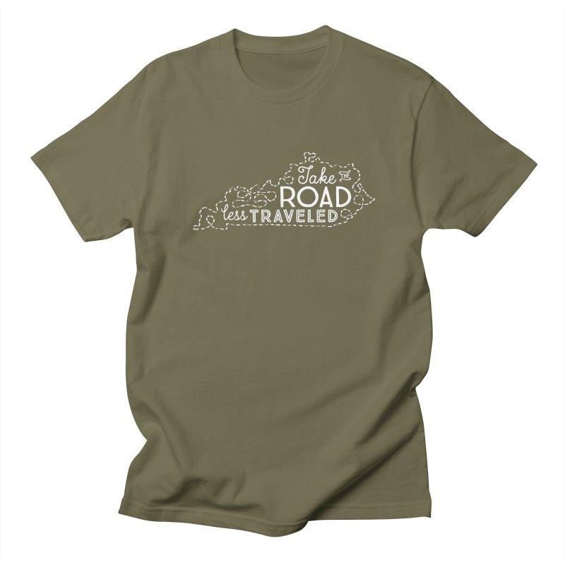 Kentucky Road Less Traveled Men's Regular T-Shirt by Red Pixel Studios