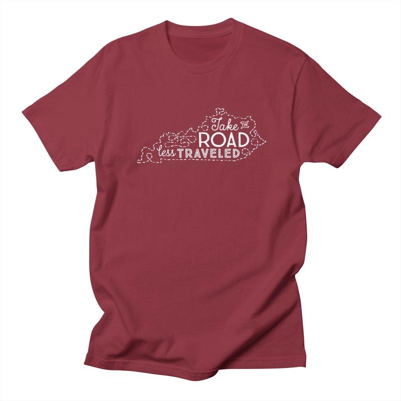 Kentucky Road Less Traveled Men's T-Shirt by Red Pixel Studios