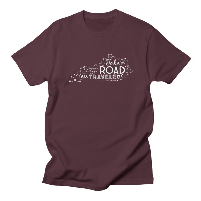 Kentucky Road Less Traveled Men's T-Shirt by Red Pixel Studios