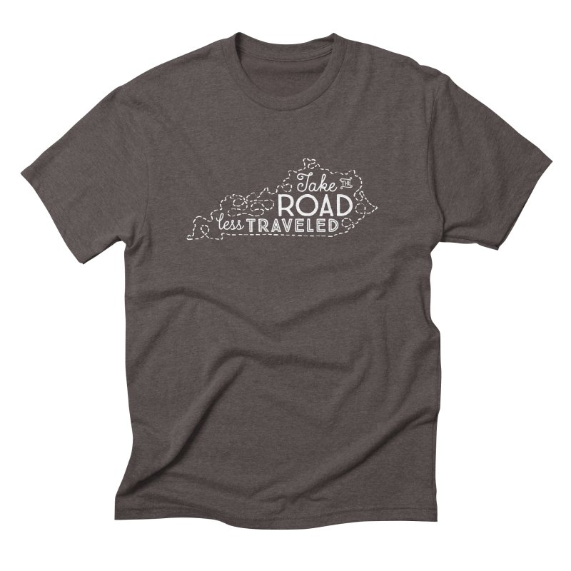 Kentucky Road Less Traveled Men's Triblend T-Shirt by Red Pixel Studios