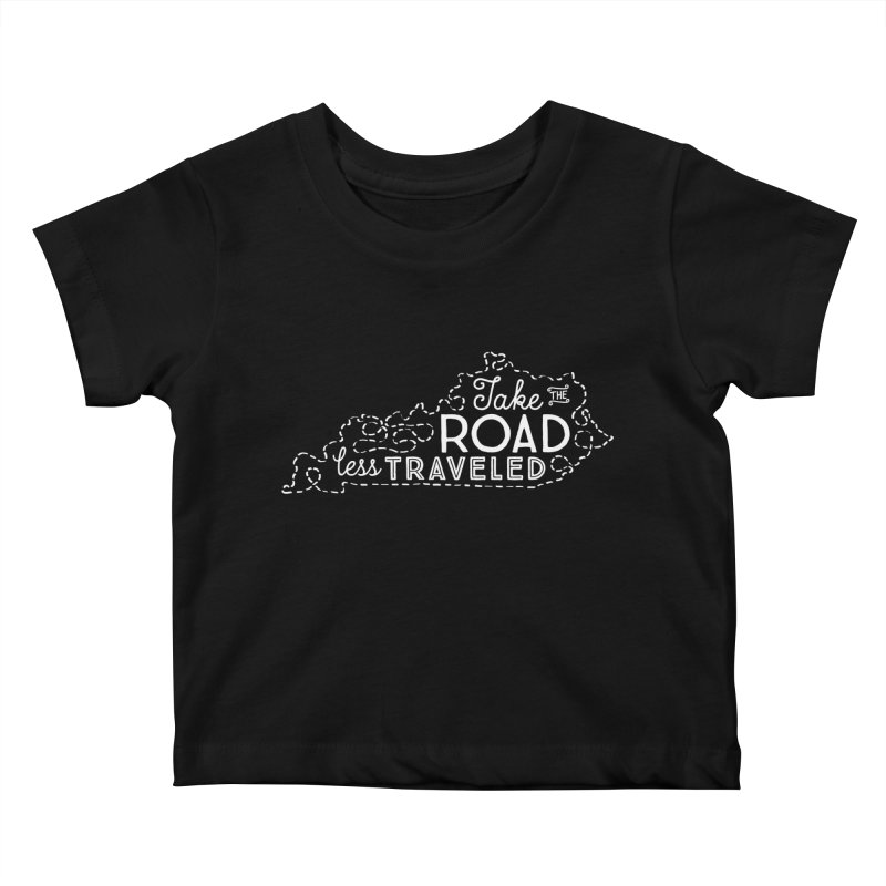 Kentucky Road Less Traveled Kids Baby T-Shirt by Red Pixel Studios