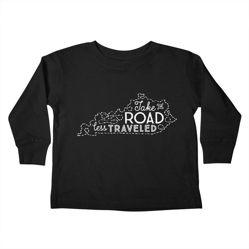 Kentucky Road Less Traveled Kids Toddler Longsleeve T-Shirt by Red Pixel Studios