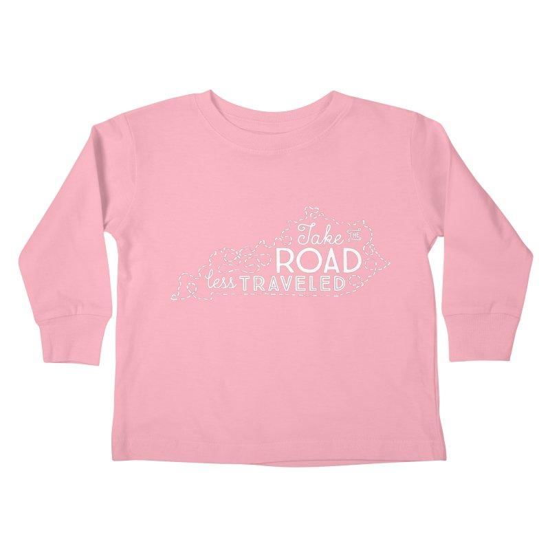 Kentucky Road Less Traveled Kids Toddler Longsleeve T-Shirt by Red Pixel Studios