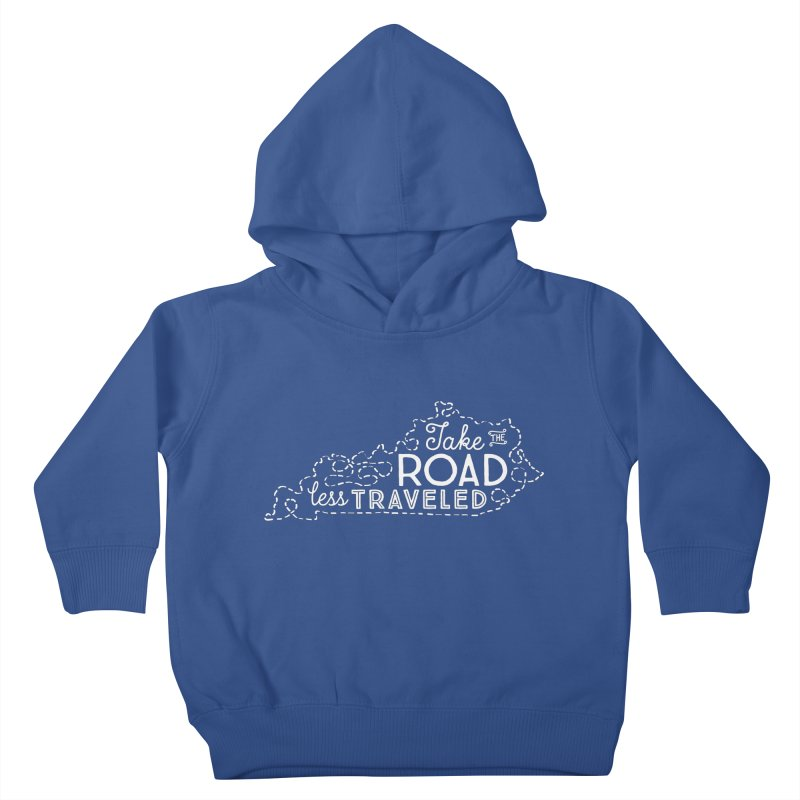 Kentucky Road Less Traveled Kids Toddler Pullover Hoody by Red Pixel Studios