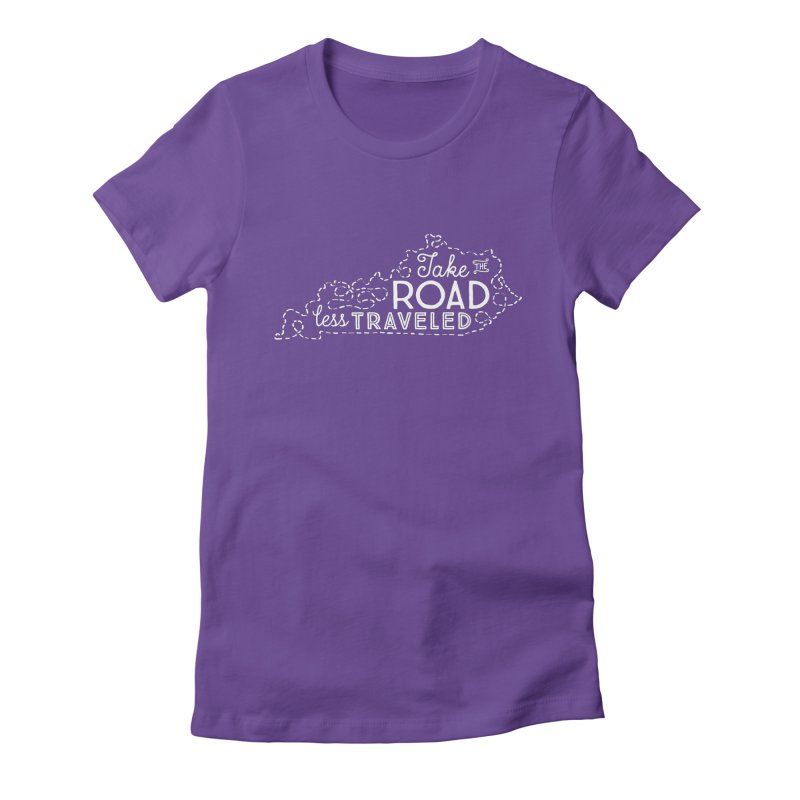 Kentucky Road Less Traveled Women's Fitted T-Shirt by Red Pixel Studios