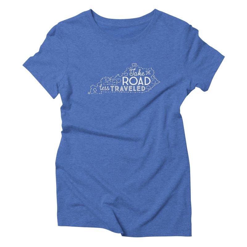 Kentucky Road Less Traveled Women's Triblend T-Shirt by Red Pixel Studios