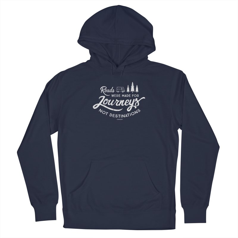 Roads Were Made For Journeys Men's Pullover Hoody by Red Pixel Studios
