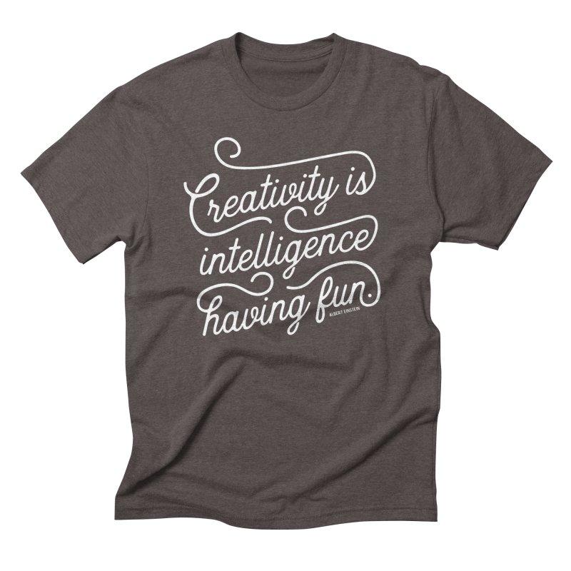 Creativity Men's Triblend T-Shirt by Red Pixel Studios