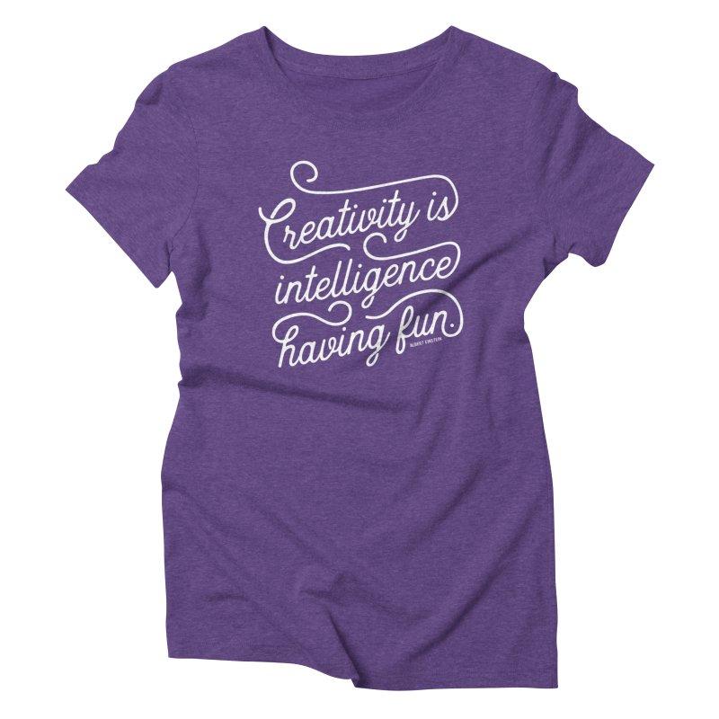 Creativity in Women's Triblend T-Shirt Tri-Purple by Red Pixel Studios