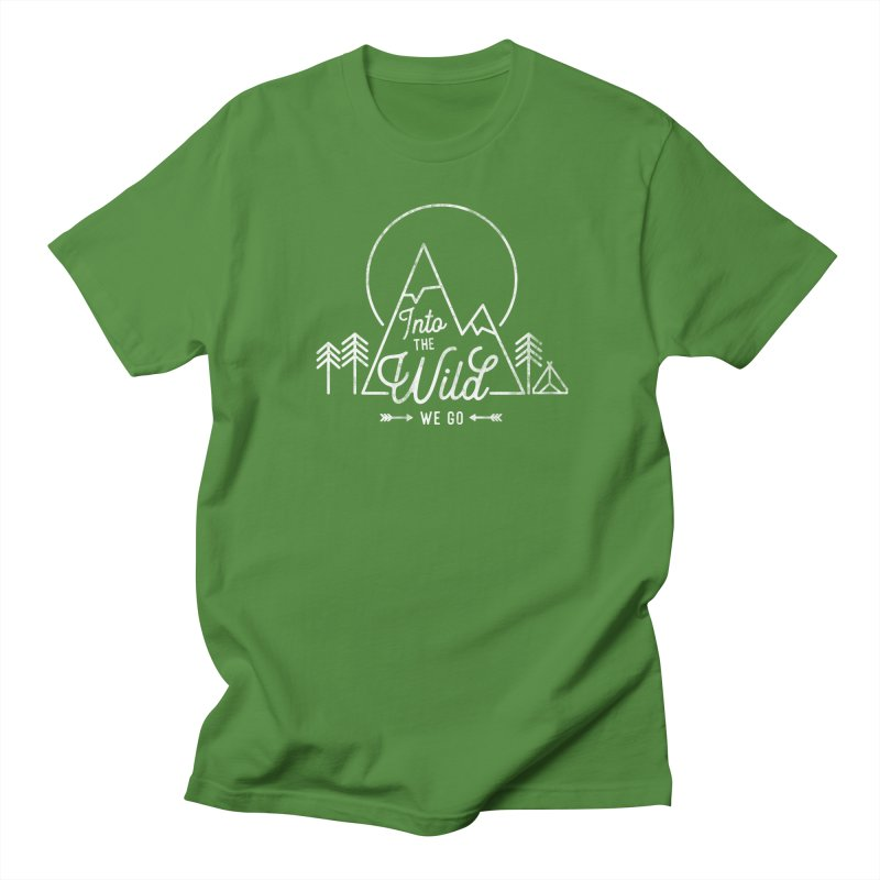 Into the Wild We Go Men's T-Shirt by Red Pixel Studios