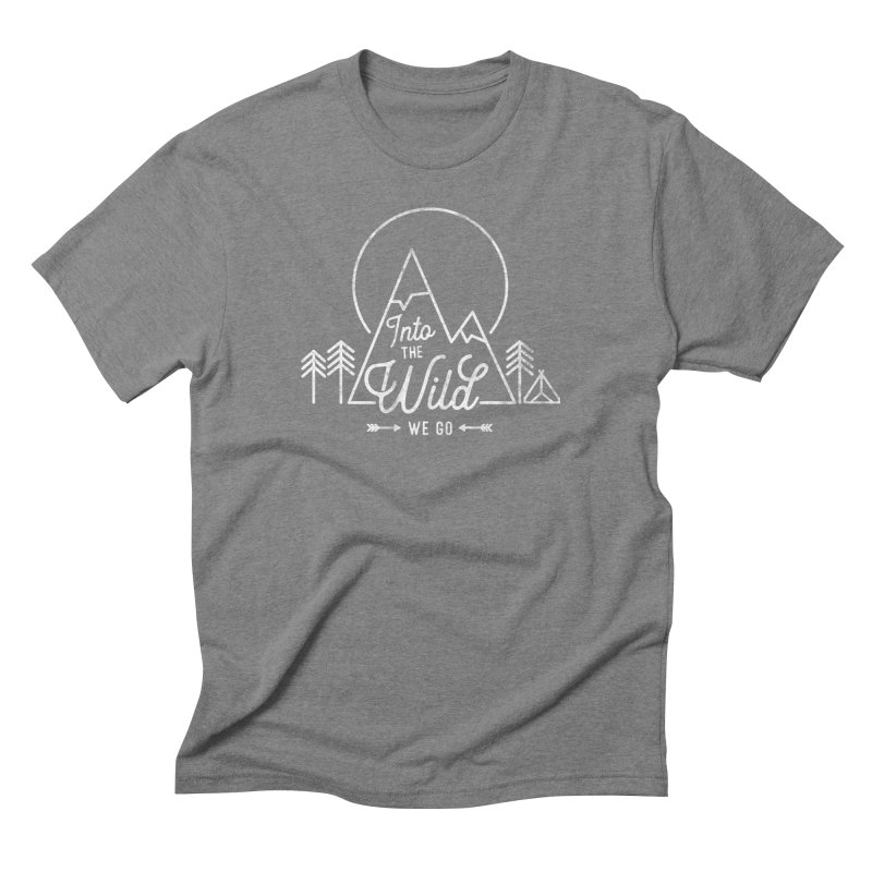 Into the Wild We Go Men's Triblend T-Shirt by Red Pixel Studios
