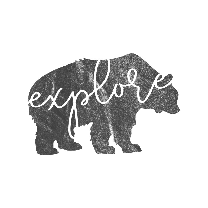 Explore Bear Men's T-Shirt by Red Pixel Studios