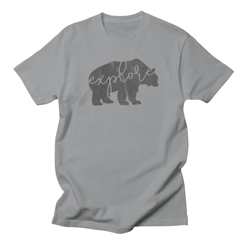 Explore Bear in Men's Regular T-Shirt Slate by Red Pixel Studios