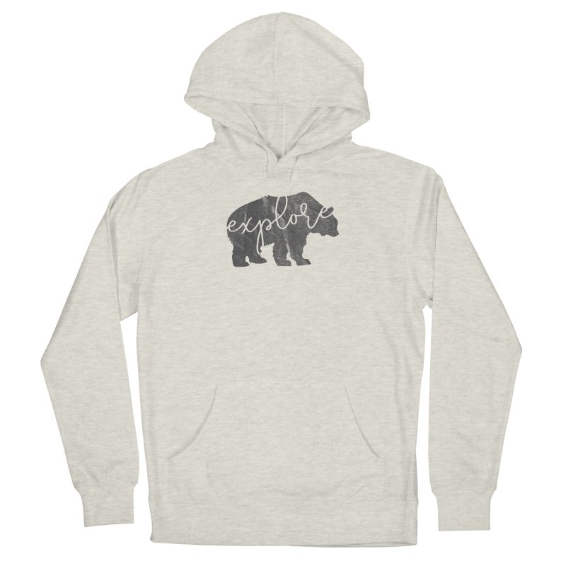 Explore Bear Men's Pullover Hoody by Red Pixel Studios