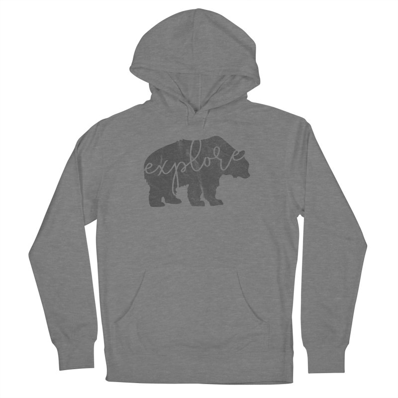 Explore Bear Women's French Terry Pullover Hoody by Red Pixel Studios