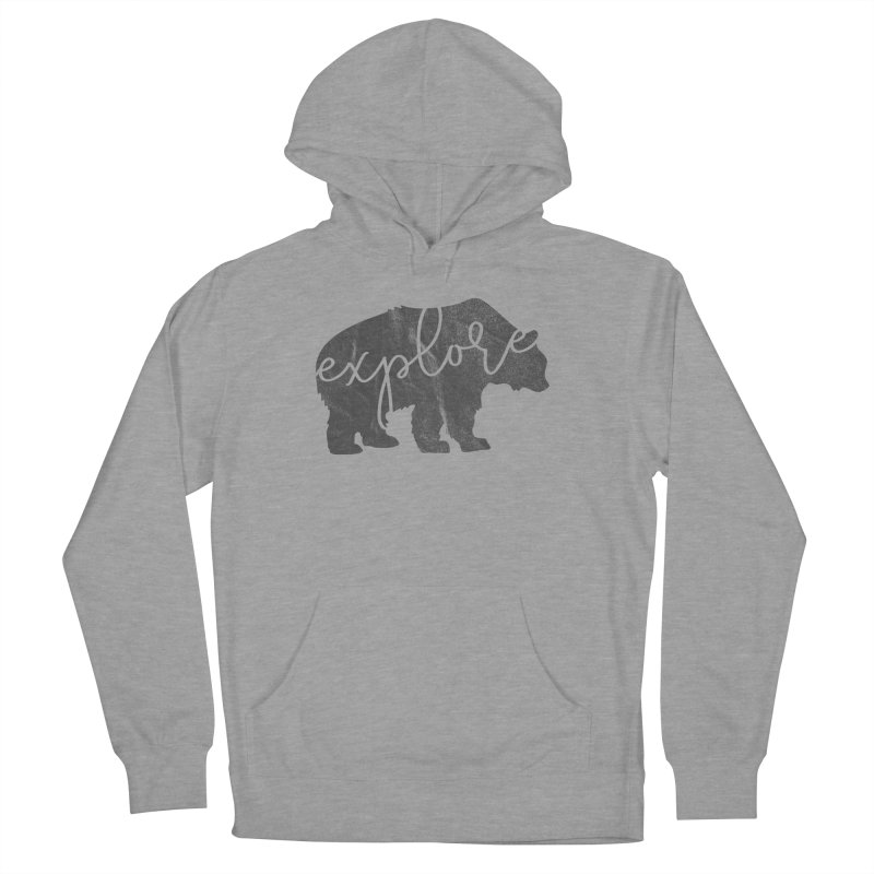 Explore Bear Men's French Terry Pullover Hoody by Red Pixel Studios
