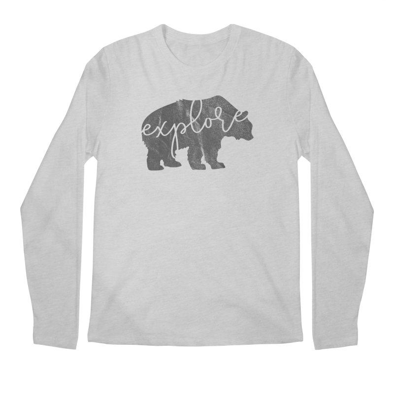 Explore Bear Men's Longsleeve T-Shirt by Red Pixel Studios