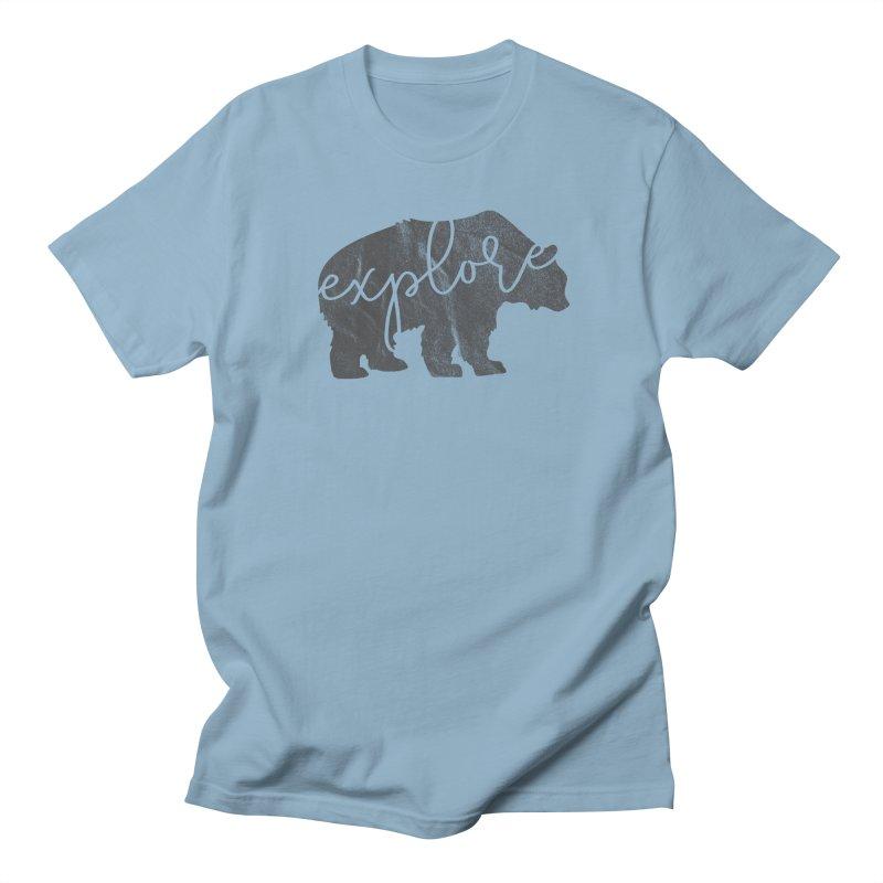 Explore Bear Men's T-Shirt by Red Pixel Studios