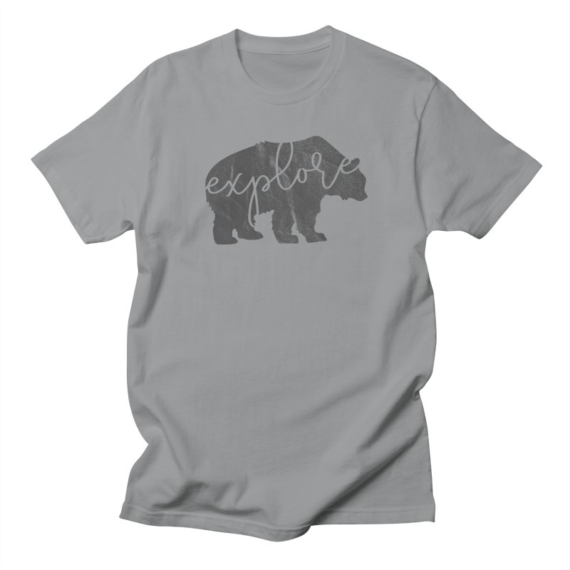 Explore Bear in Men's Regular T-Shirt Slate by Red Pixel Studios