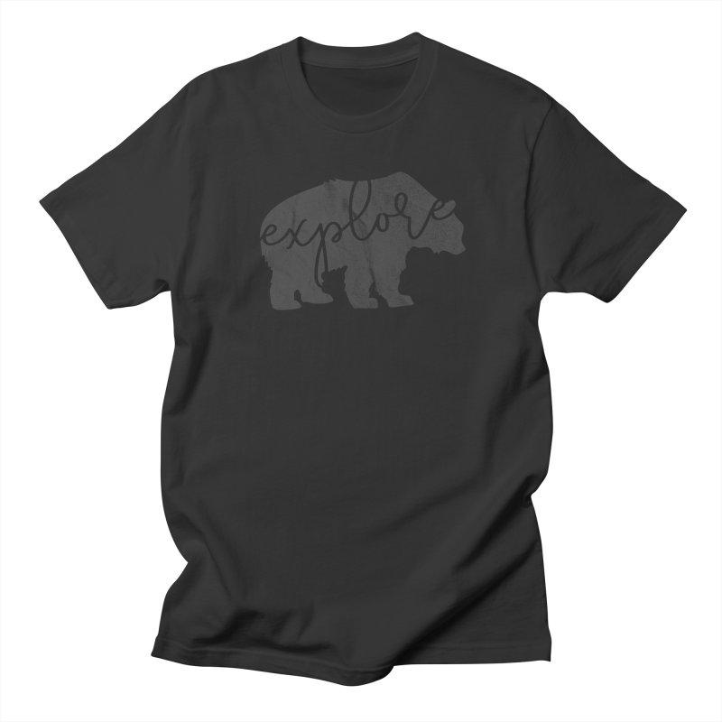 Explore Bear Men's Regular T-Shirt by Red Pixel Studios