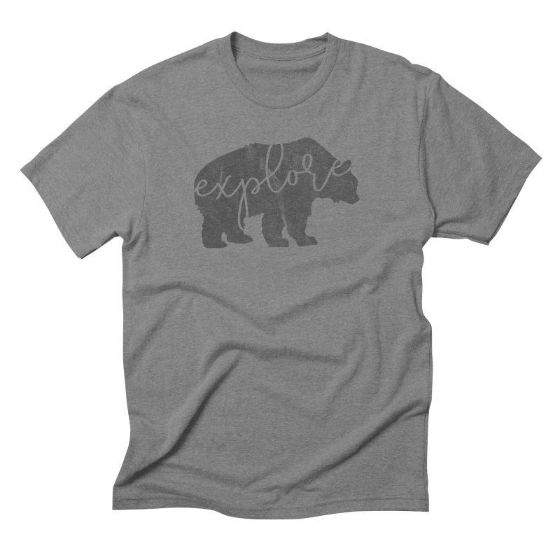 Explore Bear Men's Triblend T-Shirt by Red Pixel Studios