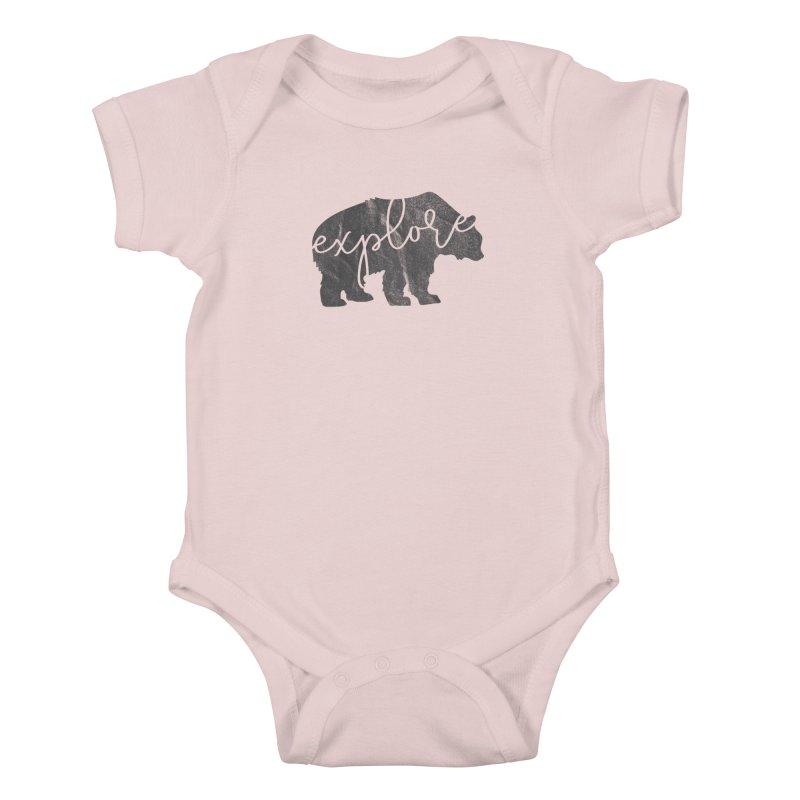 Explore Bear Kids Baby Bodysuit by Red Pixel Studios