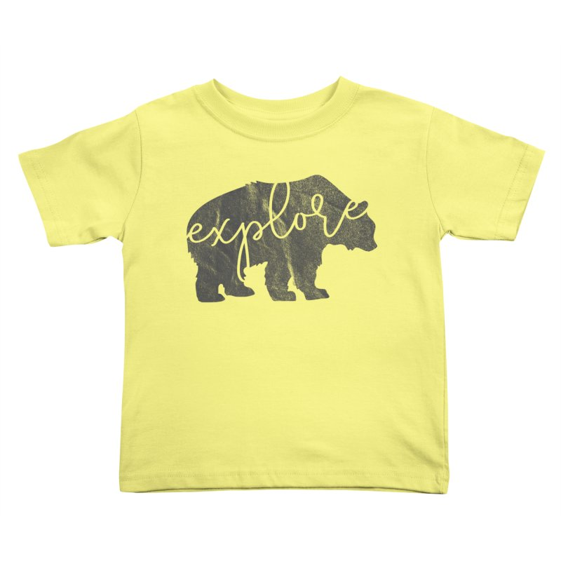 Explore Bear Kids Toddler T-Shirt by Red Pixel Studios