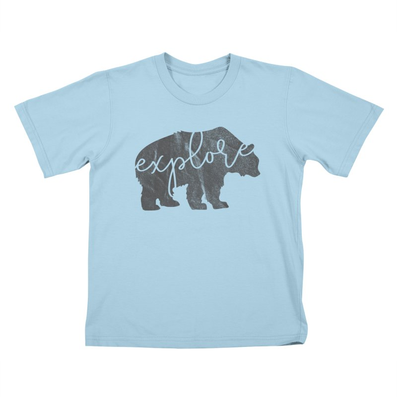 Explore Bear Kids T-Shirt by Red Pixel Studios