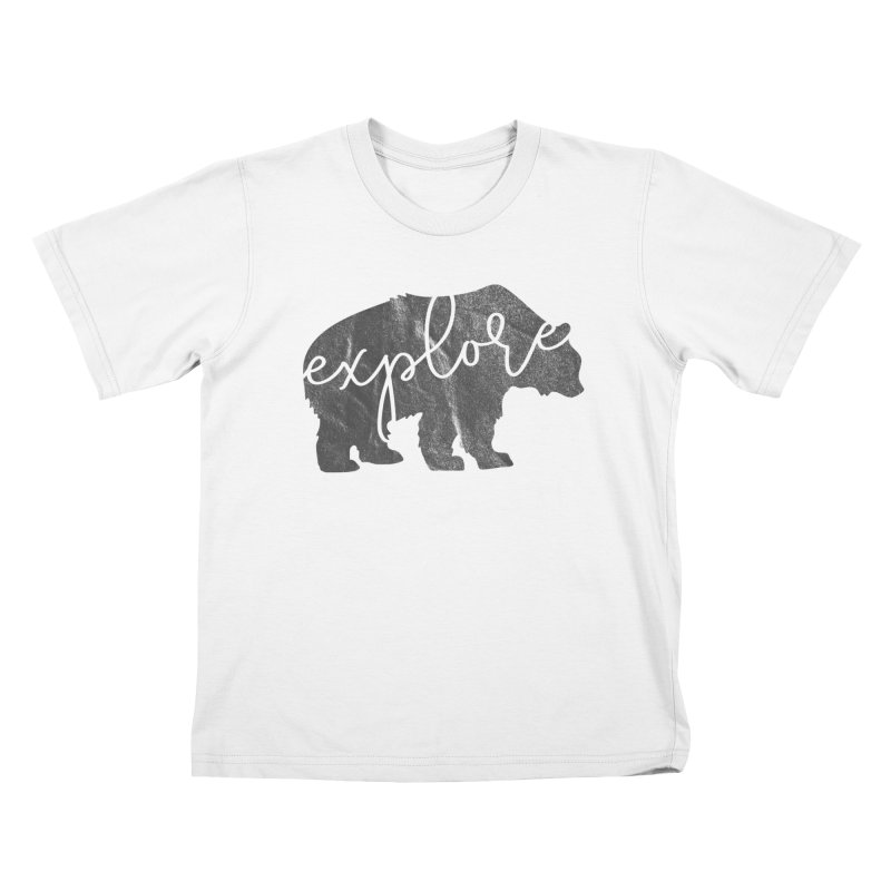 Explore Bear Kids T-Shirt by Red Pixel Studios